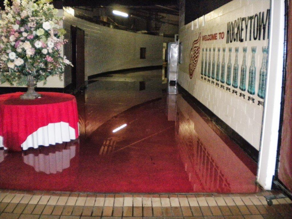 Flooding at Joe Louis Arena